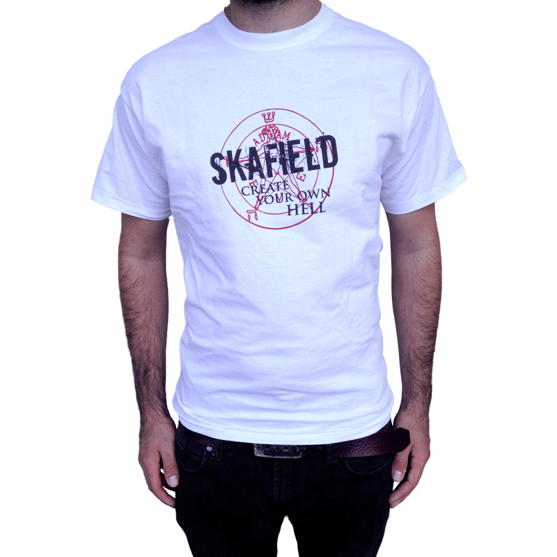 Skafield Create your own hell T-Shirt weiss