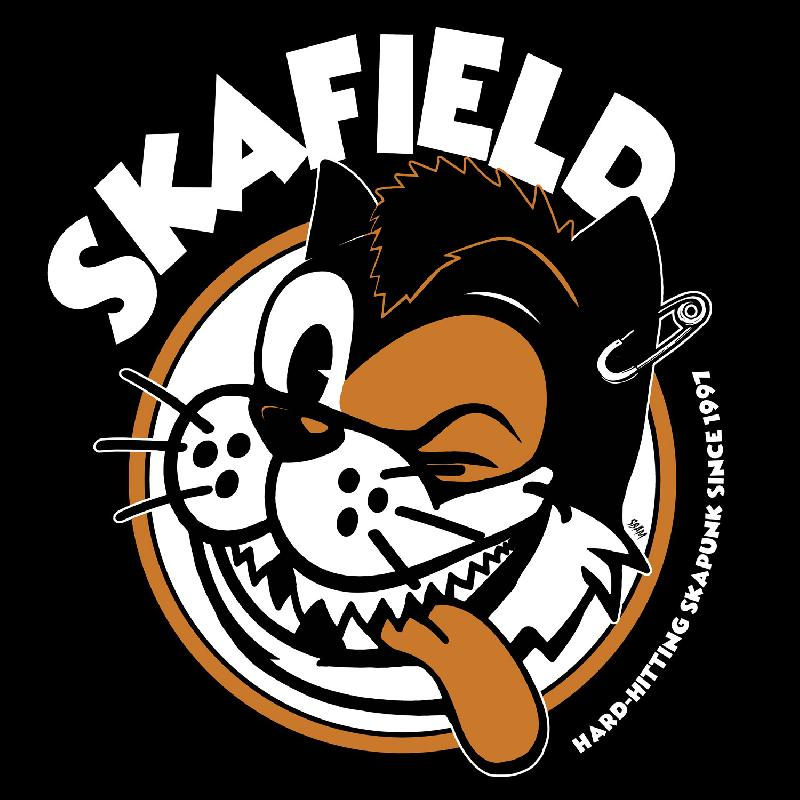 Skafield Cat Girlie-Shirt black