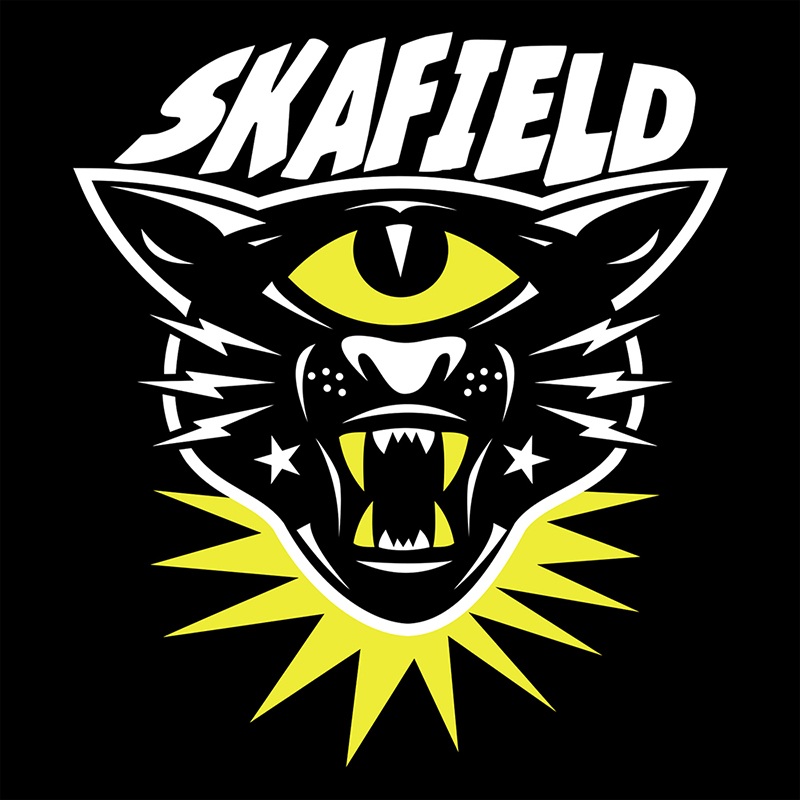 Skafield Tiger Girlie-Shirt black